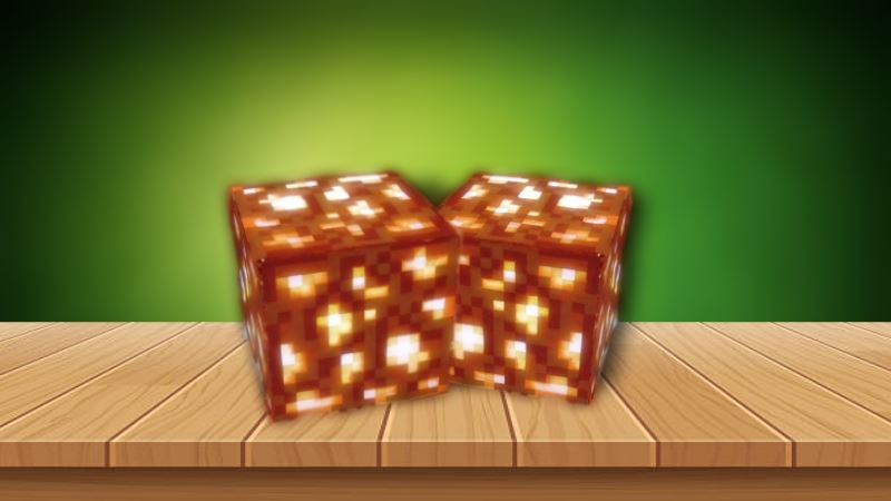 minecraft how to make a glowstone lamp