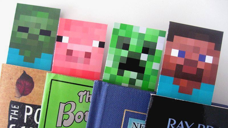 picture relating to Minecraft Bookmarks Printable known as Minecraft Bookmarks